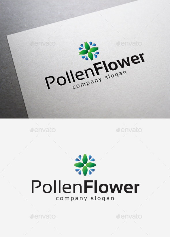 GraphicRiver Pollen Flower Logo 10035095