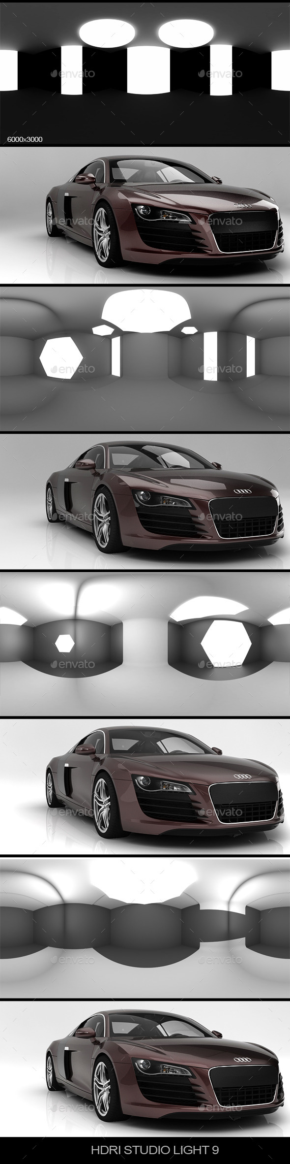 Studio light 9  - 3DOcean Item for Sale
