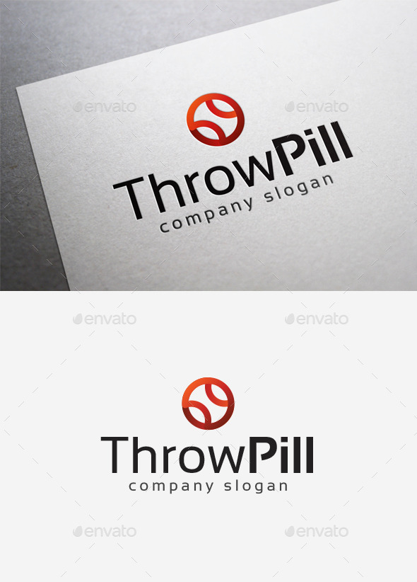GraphicRiver Throw Pill Logo 10035212