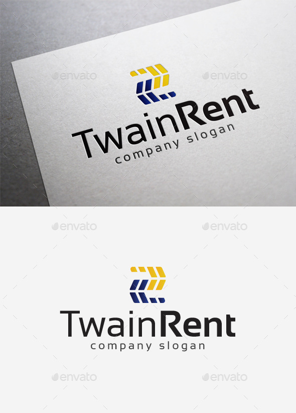 GraphicRiver Twain Rent Logo 10035310