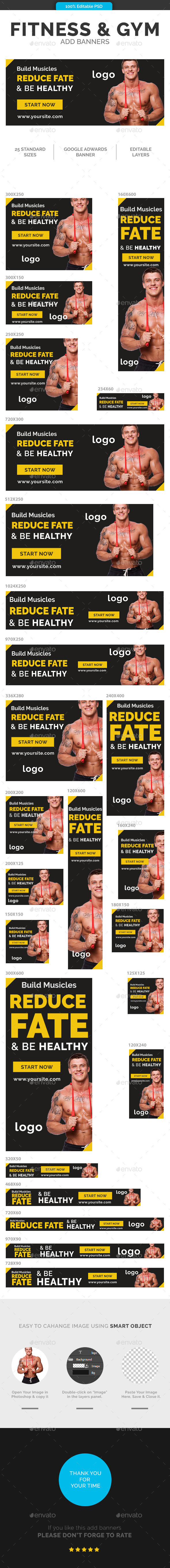 GraphicRiver Fitness & Gym Add Banners 10035542
