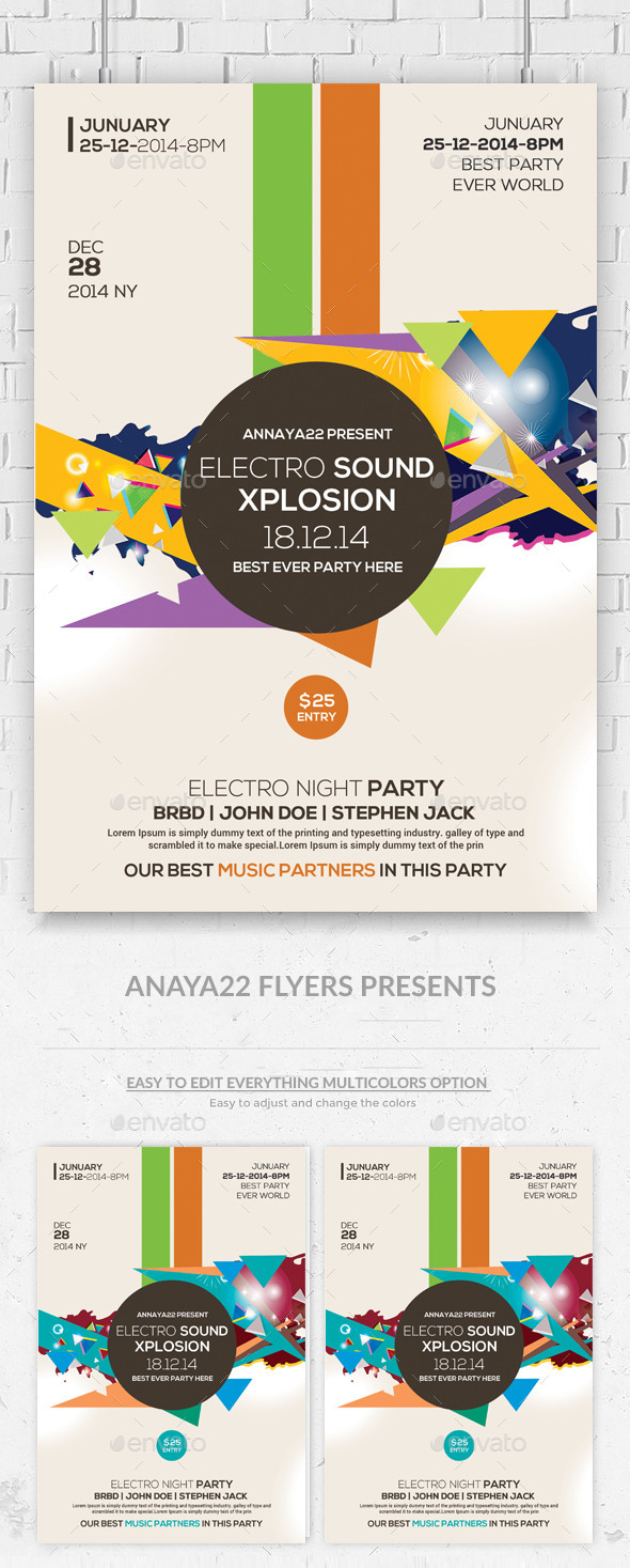 GraphicRiver Minimal Abstract Flyer Templates 10011205