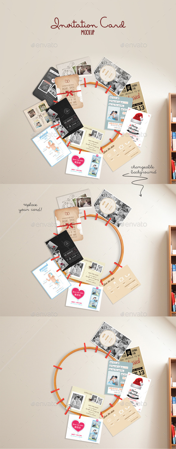 GraphicRiver Invitation Card Mockup 10035650