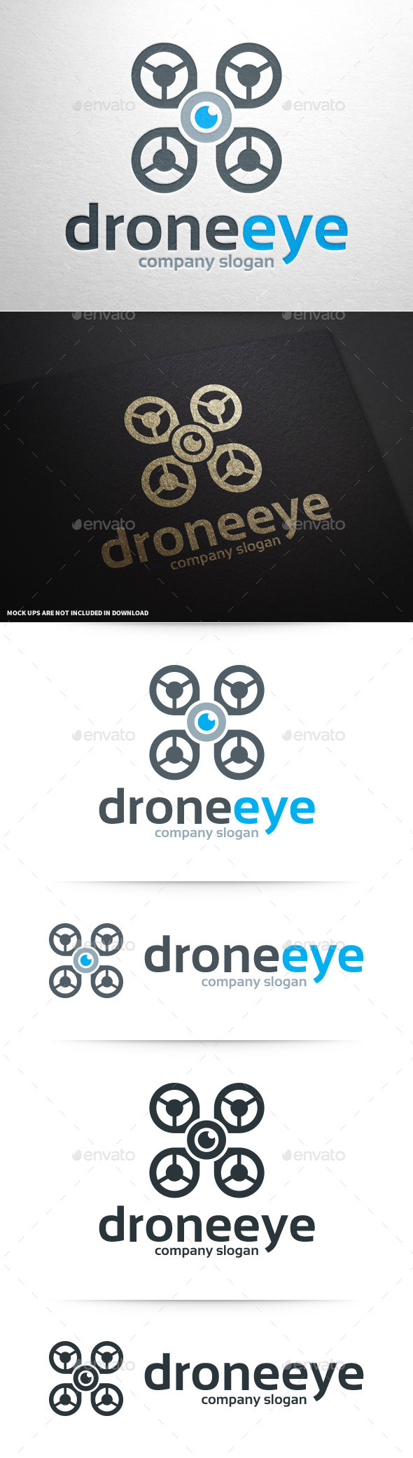 GraphicRiver Drone Eye Logo Template 10035708