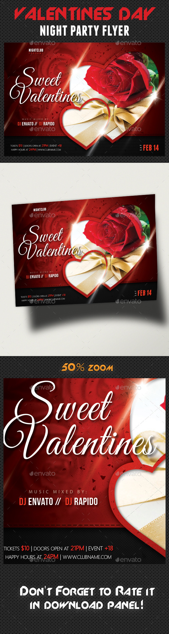 GraphicRiver Valentines Day Party Flyer Template 10035709