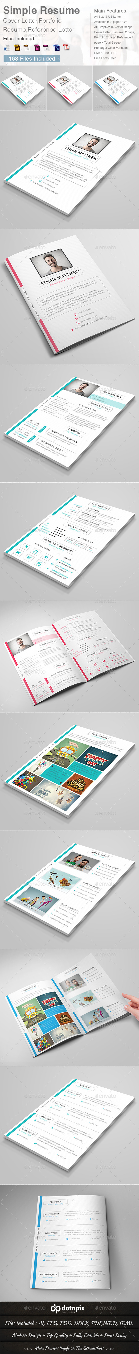 GraphicRiver Simple Resume 10035864