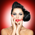 Beautiful woman with red nails - PhotoDune Item for Sale