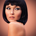 beautiful fashion  woman with bob hairstyle - PhotoDune Item for Sale