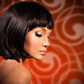 portrait of  beautiful woman with bob hairstyle - PhotoDune Item for Sale