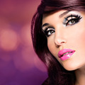 Beautiful brunette woman with bright fashion make-up - PhotoDune Item for Sale