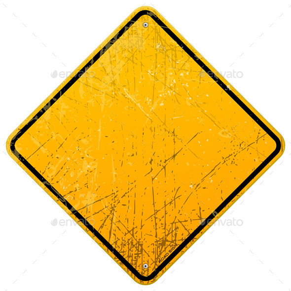 GraphicRiver Rusty Yellow Sign 10036413