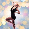 Beautiful sexy woman  in black dress - PhotoDune Item for Sale