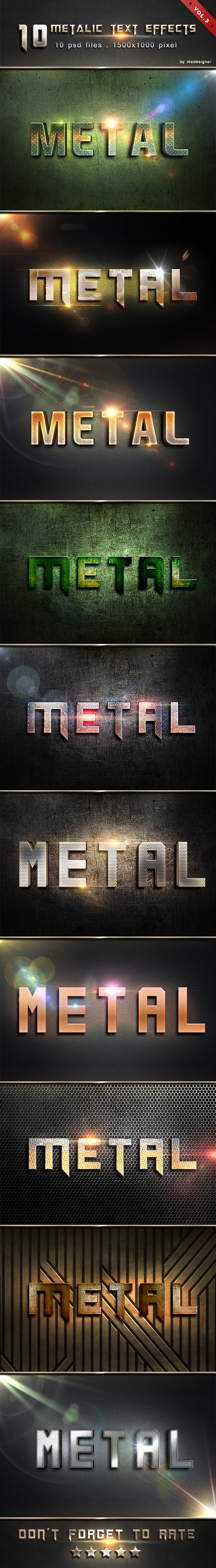 Metalic Text Effects V.3