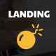 Landing Bomb - Landing Page For Adobe Muse - ThemeForest Item for Sale