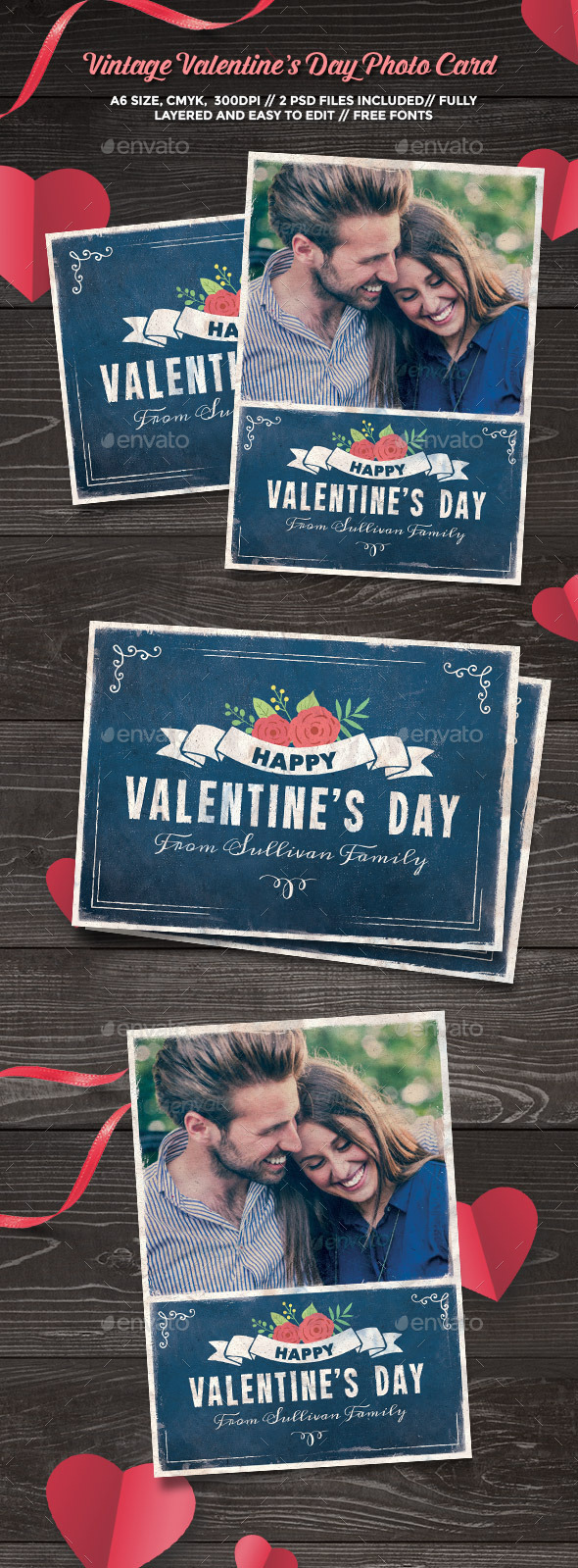 Vintage Valentine's Day Photo Card