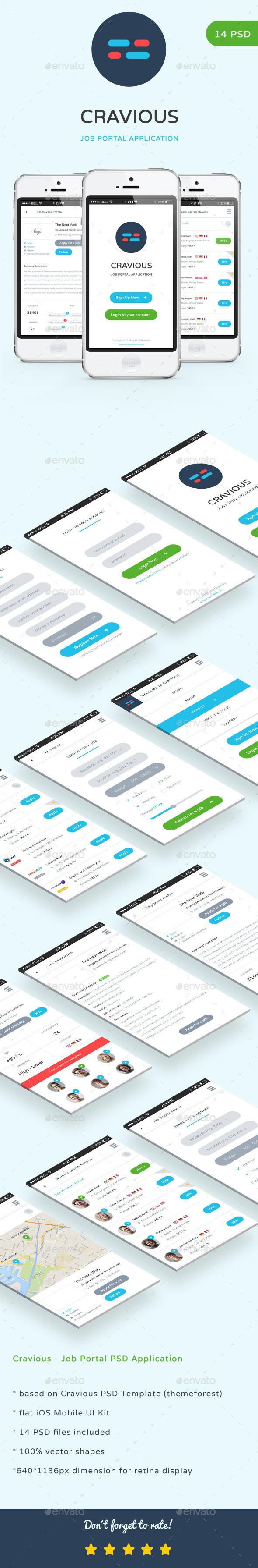 Cravious - Job Portal Application (User Interfaces)