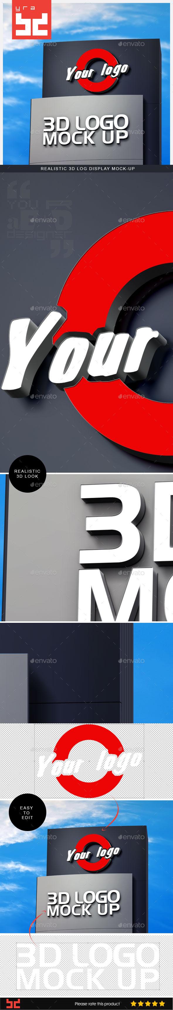 Realistic 3D Logo Mockup V1