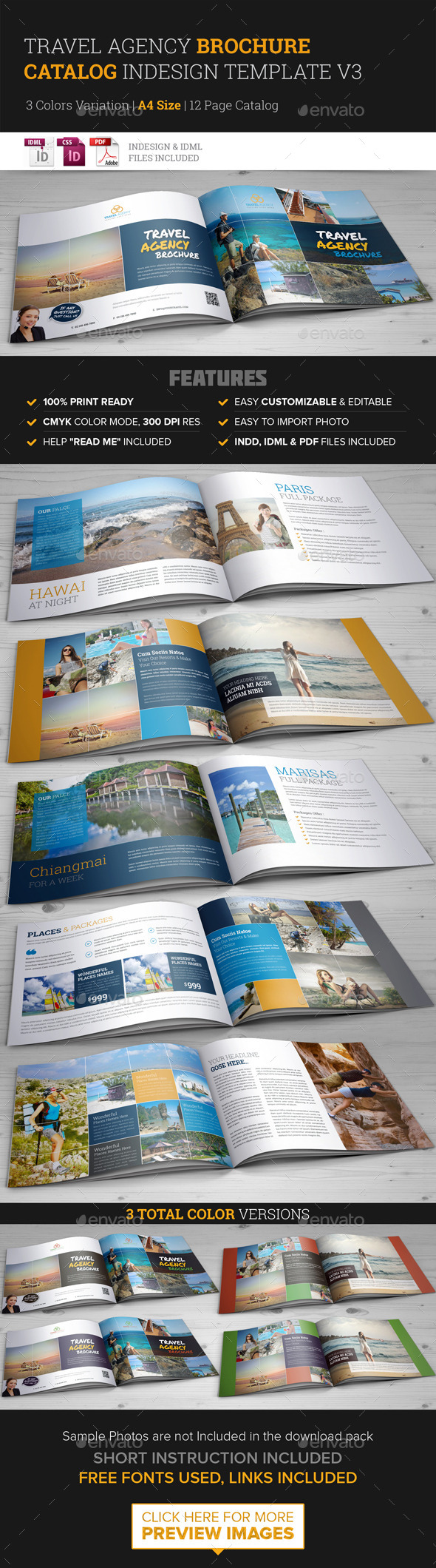 GraphicRiver Travel Agency Brochure Catalog InDesign Template 3 10036706