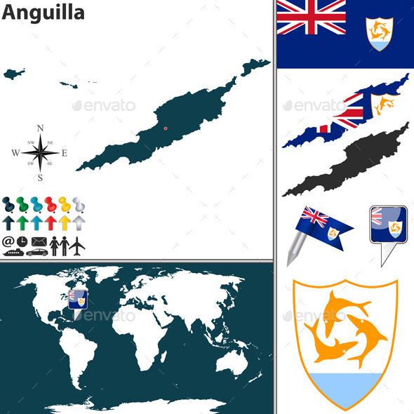 GraphicRiver Map of Anguilla 10037132