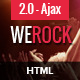 WeRock - Ajax Music Radio Streaming & Event HTML Template - ThemeForest Item for Sale