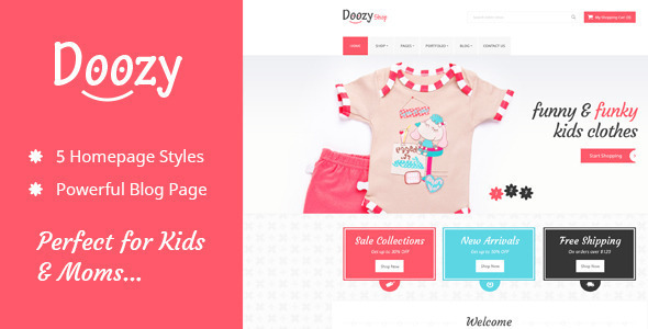 Doozy Kindergarten & Ecommerce Template