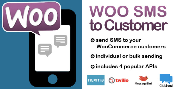 CodeCanyon Woocommerce SMS to customer 10018598