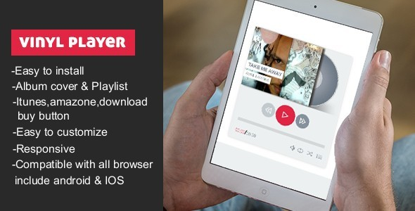 CodeCanyon Vinyl Music Player With Playlist 10037308