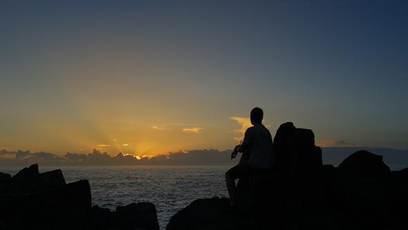 Watching the Ocean Sunrise