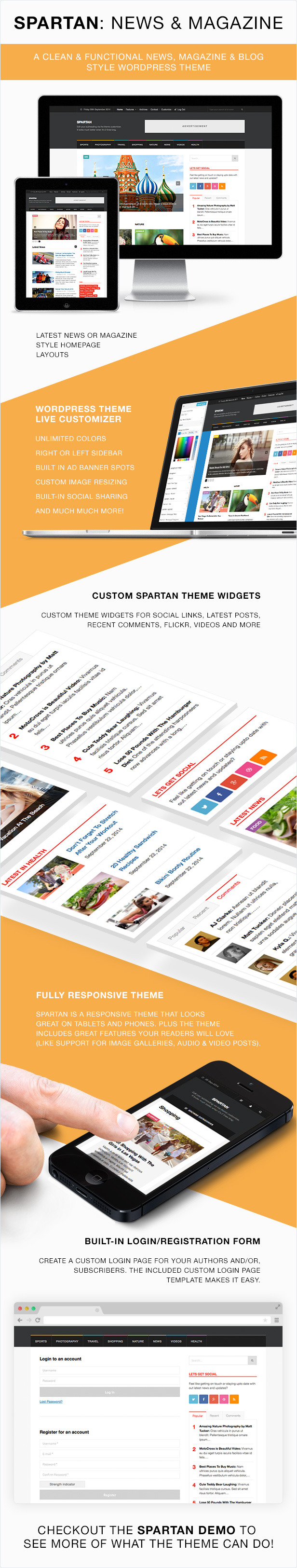 Spartan WordPress Theme Features