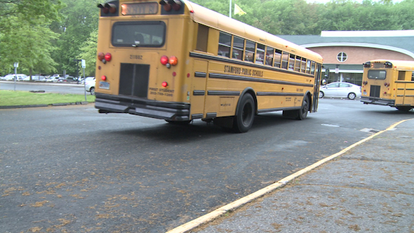 Buses Leave The School 1 Of 3 2