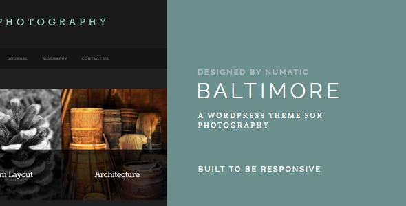 Baltimore - WordPress Photography Theme