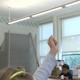 Grammar School Girl Raising Her Hand In Class