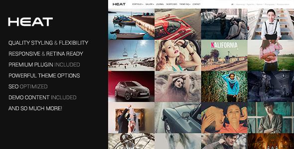 Heat Premium Portfolio WordPress Theme - Photography Creative