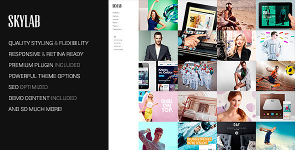 Skylab Portfolio / Photography WordPress Theme - Photography Creative