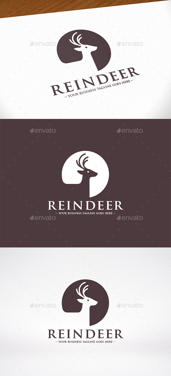 GraphicRiver Reindeer Head Logo Template 10039074