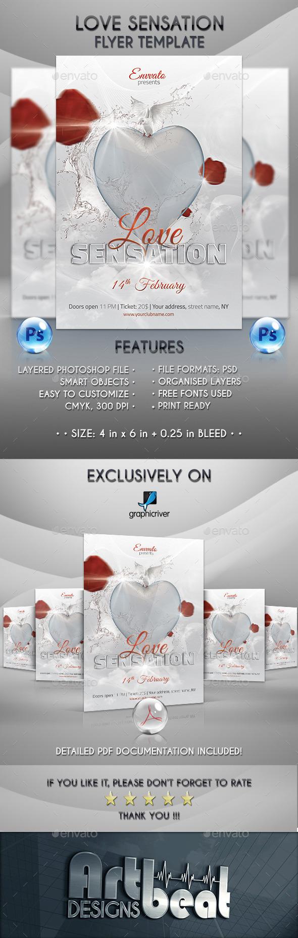GraphicRiver Love Sensation Flyer Template 10039146