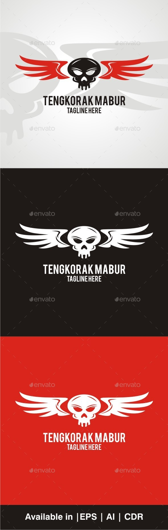 GraphicRiver Tengkorak Mabur 10013841