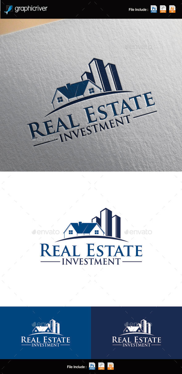 GraphicRiver Real Estate Investment Logo Template 10040079
