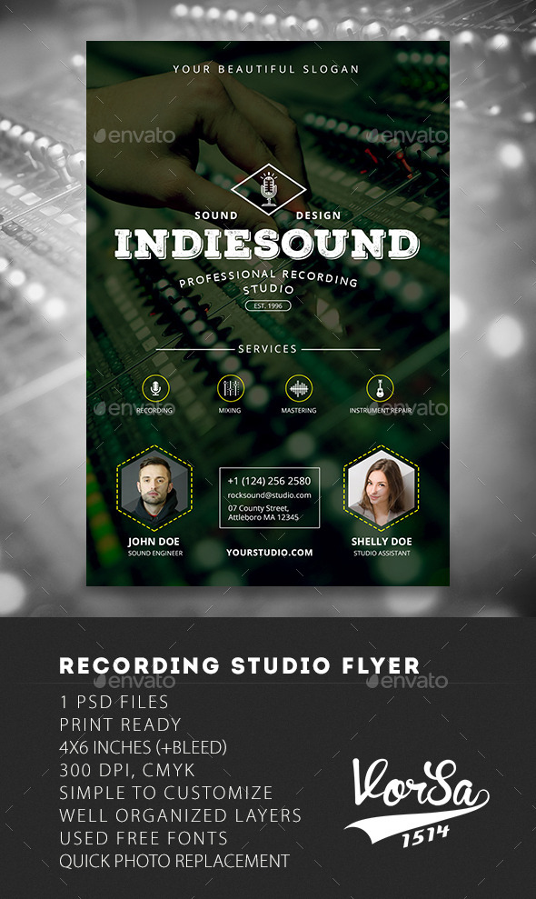 GraphicRiver Recording Studio Flyer 10040098