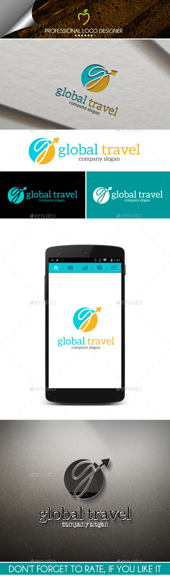 GraphicRiver Global Travel Logo 10040196