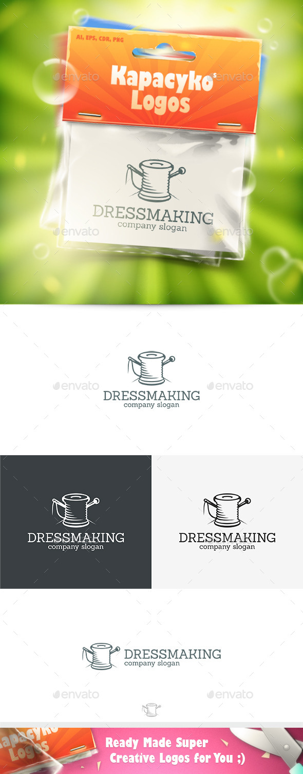 GraphicRiver Dressmaking Logo 10040216