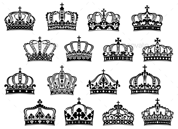 GraphicRiver Royal or Imperial Crowns Set 10040252