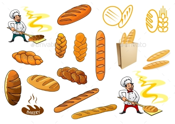 GraphicRiver Bakers and Baguettes 10040278