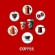 Coffee Drink Flat Concept - GraphicRiver Item for Sale