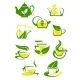 Herbal and Lemon Tea Cup Icons - GraphicRiver Item for Sale