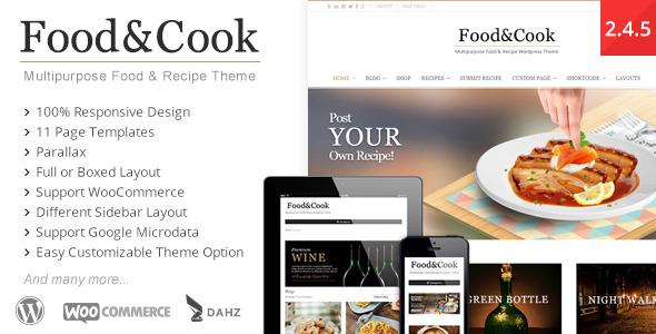 Food & Cook - Multipurpose Food Recipe WP Theme