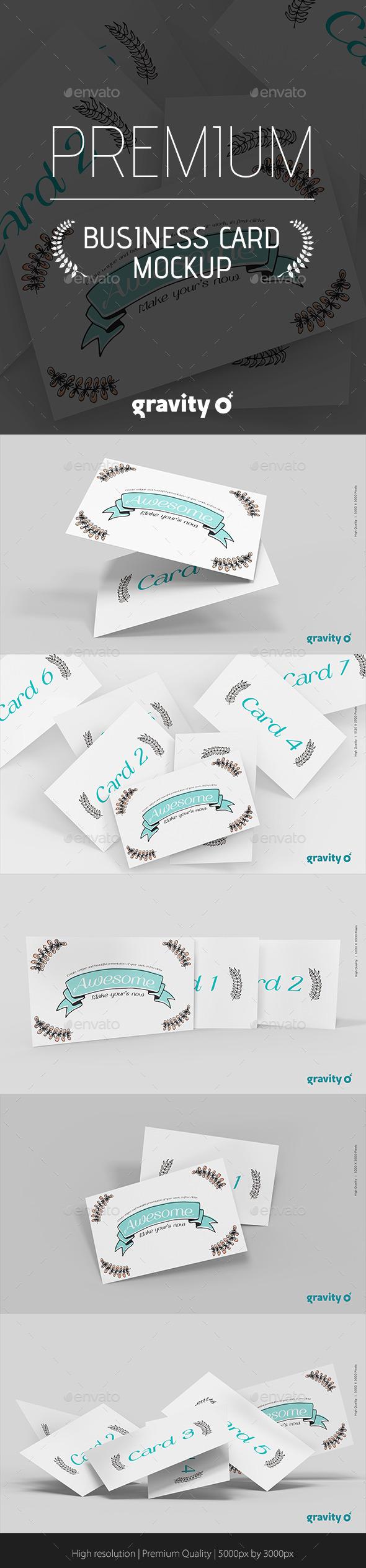 GraphicRiver Business Card Mockup Gravity Zero 10040476