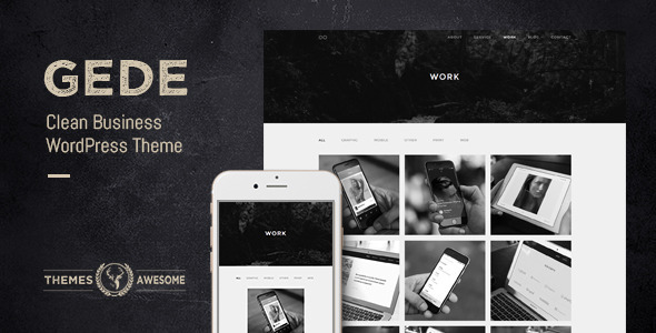 ThemeForest Gede Clean Business WordPress Theme 9834815