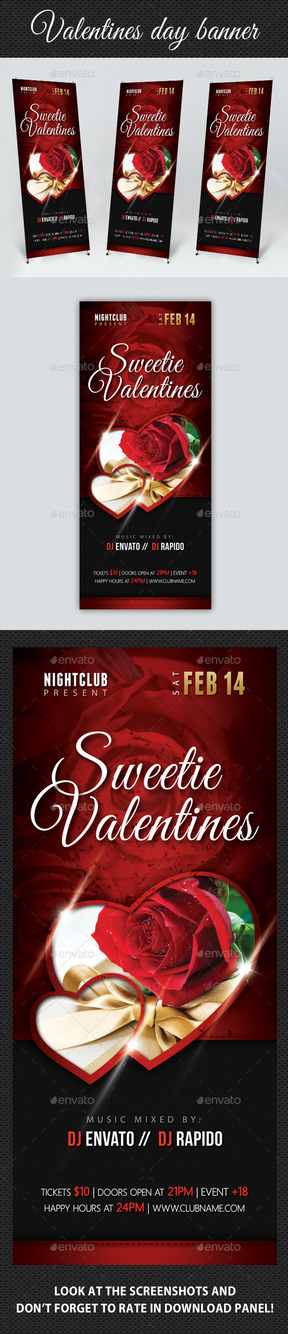 GraphicRiver Valentines Day Banner Template 10040611