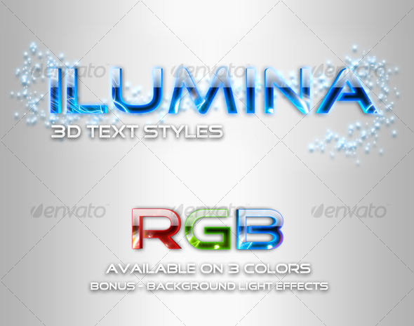 GraphicRiver Ilumina Glowing Text Styles 126999